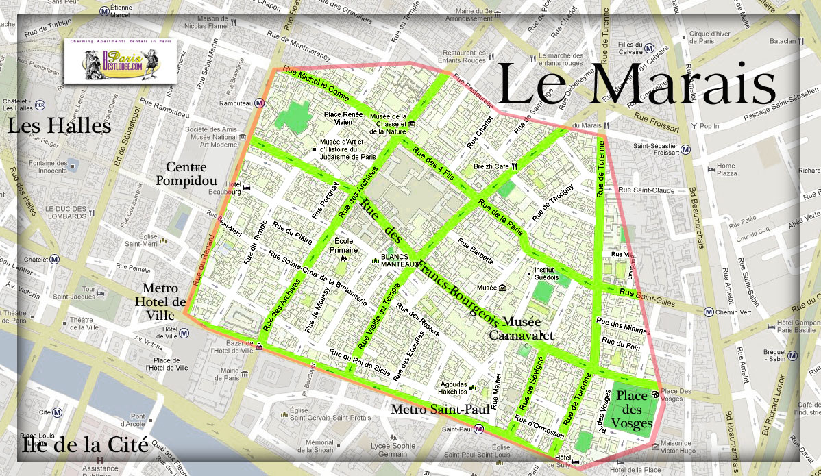 where is the marais in paris map. Black Bedroom Furniture Sets. Home Design Ideas