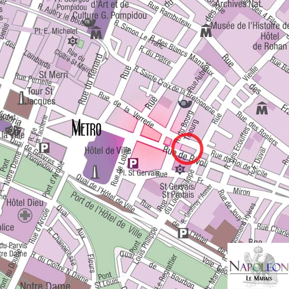 rue de rivoli map
