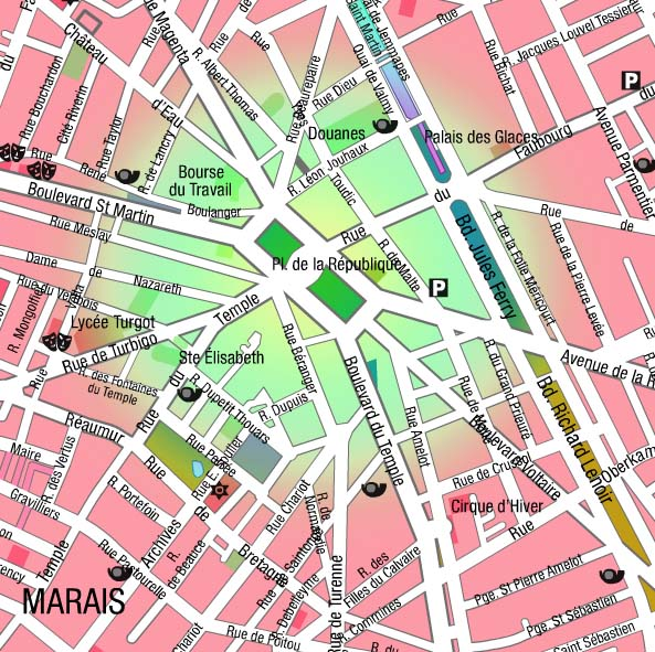 paris place de la republique map description history. Black Bedroom Furniture Sets. Home Design Ideas