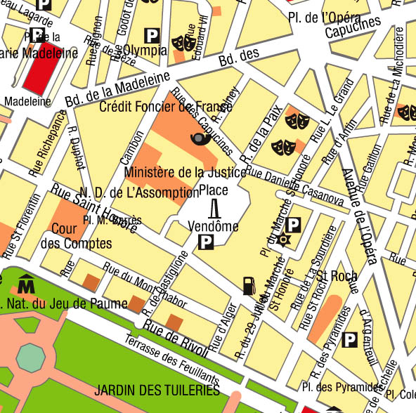 Paris Mysterious Place Vendome Map Rue De La Paix