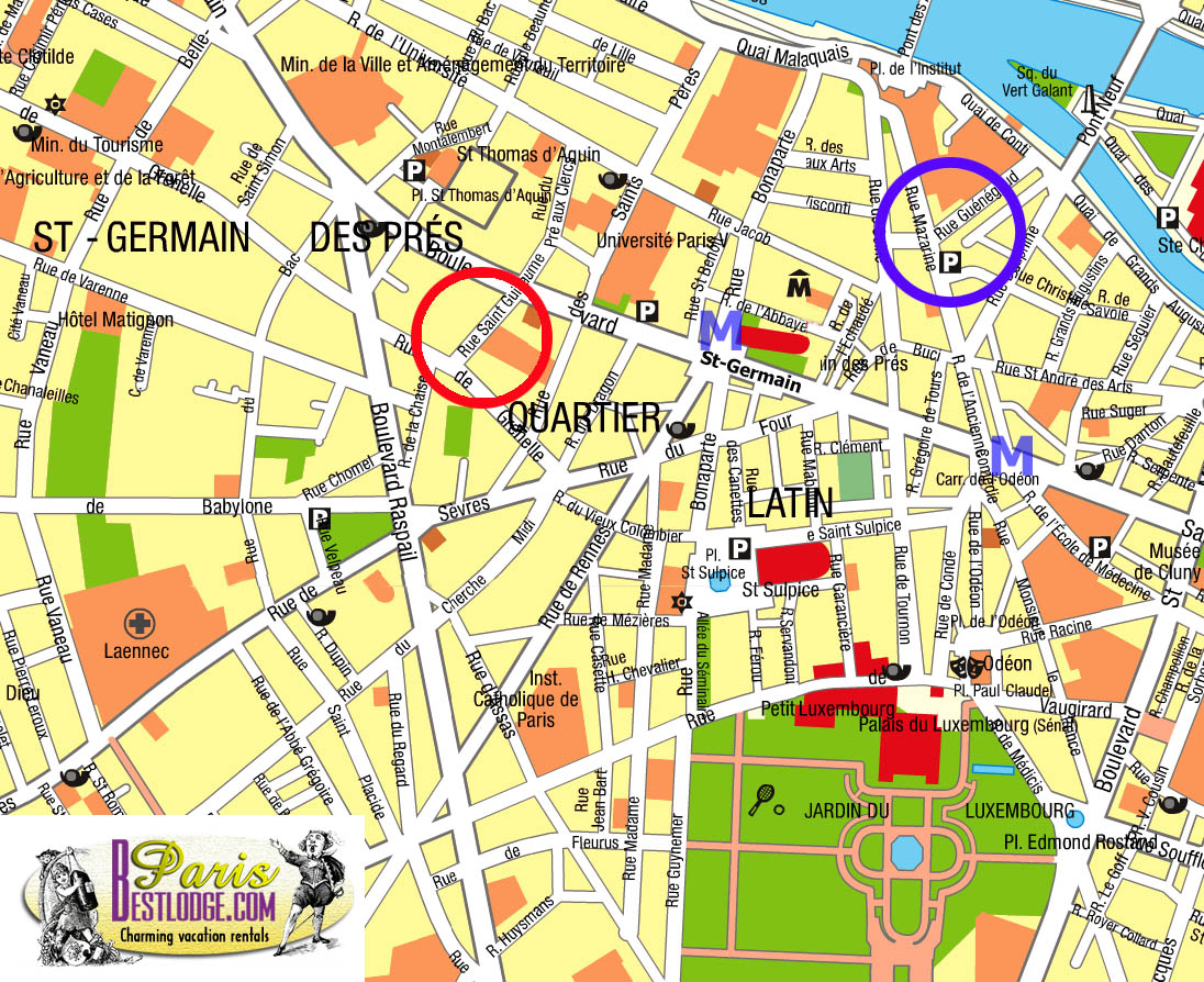map of st germain des pres